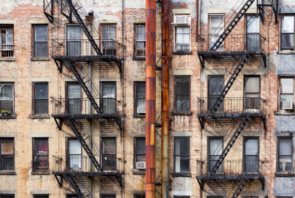 Old Apartment Buildings in New York City